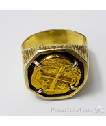 JUPITER SHIPWRECK 1659 COLOMBIA 2 ESCUDOS GOLD RING PIRATE GOLD COINS TR... - $8,950.00