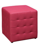 PINK Square Mesh Fabric Cube Ottoman Footstool ... - $64.99