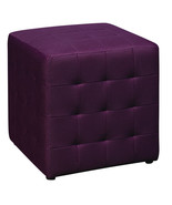 PURPLE Square Mesh Fabric Cube Ottoman Footstool - Side Accent Table DTR15 - $64.99