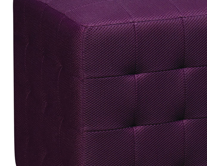 PURPLE Square Mesh Fabric Cube Ottoman Footstool - Side Accent Table DTR15