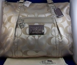COACH Poppy Signature Sateen Sparkle Glam Tote NWT 18015P - $300.00