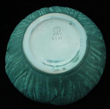 1936 Rookwood Art Pottery #6538 Leaf Pattern Bowl NICE1