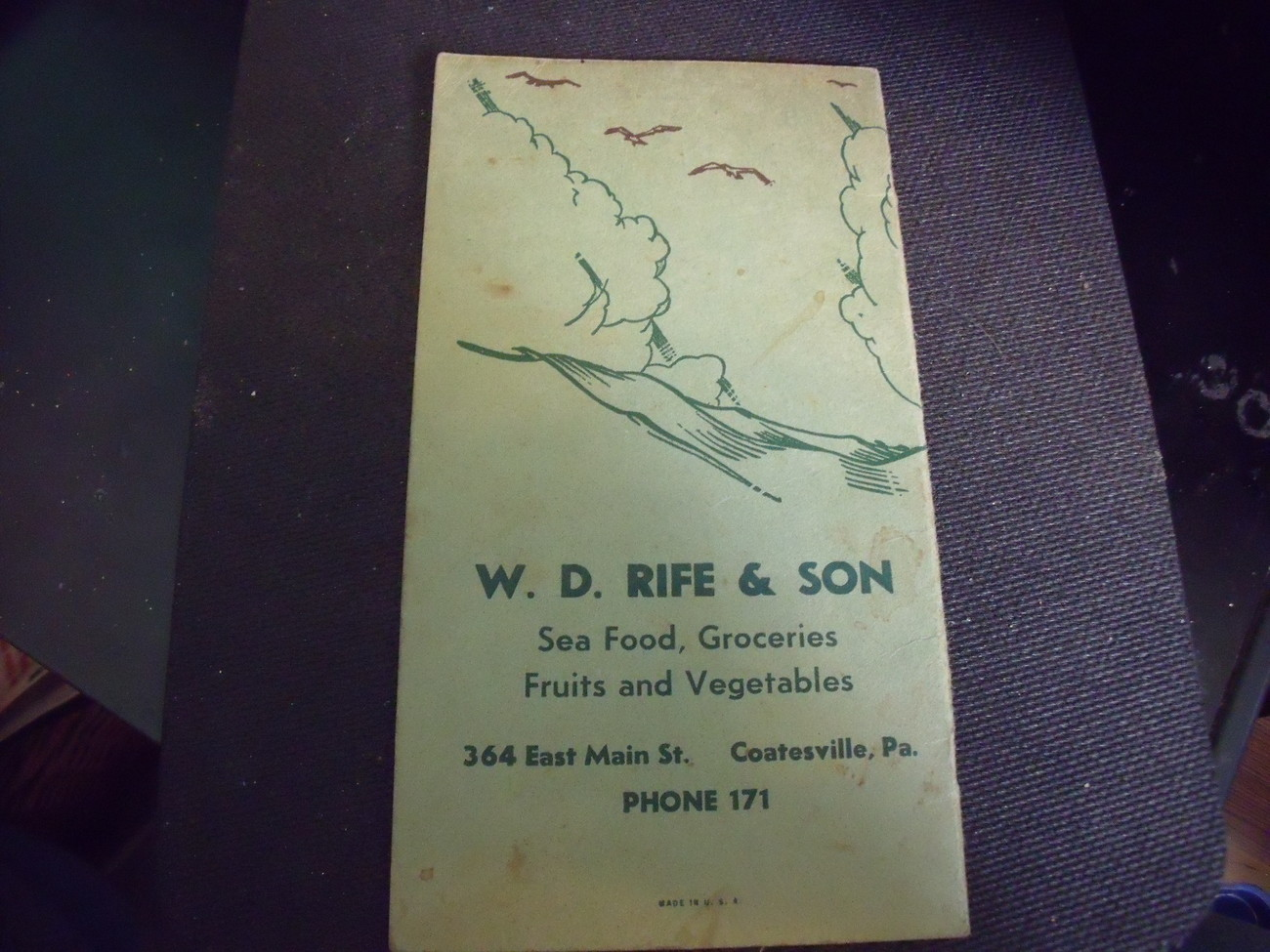 Original 1930's Fish Facts Booklet and Cookbook