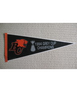 Grey Cup 1994 BC Lions Felt Pennant CFL Football Souvenir - $24.99