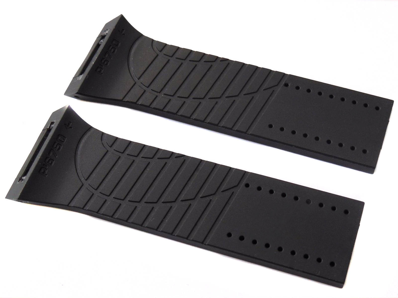 Black Rubber Watch Strap Band For Porsche Design P6750 P-6750 P 6750