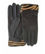 NEW SOFT LEATHER GLOVES w/ TIGER print Haircalf... - $28.99