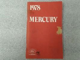 1978 MERCURY Owners Manual 15900 - $16.78