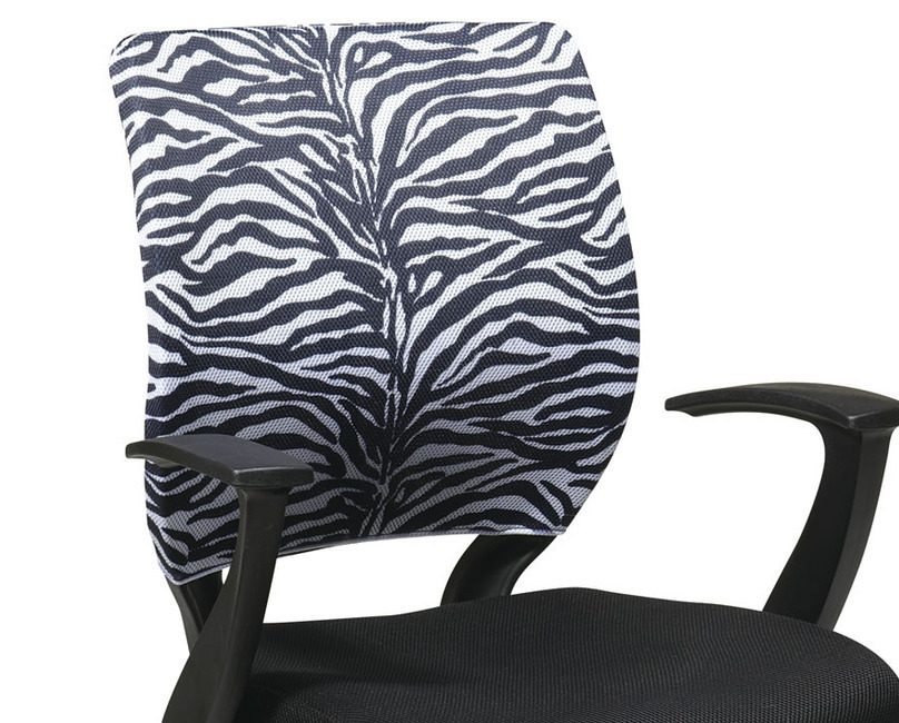 Screen Back w/Removable ZEBRA PRINTED SLEEVE COVER Executive Office Desk Chair