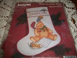 Janlynn Christmas Cross Stitch Kit 149-03~Teddy Bear Stocking  - $30.00