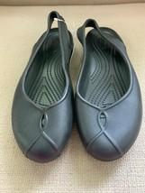 Crocs Olivia II Black Rubber Slingback Flats Womens US 7 - $18.49