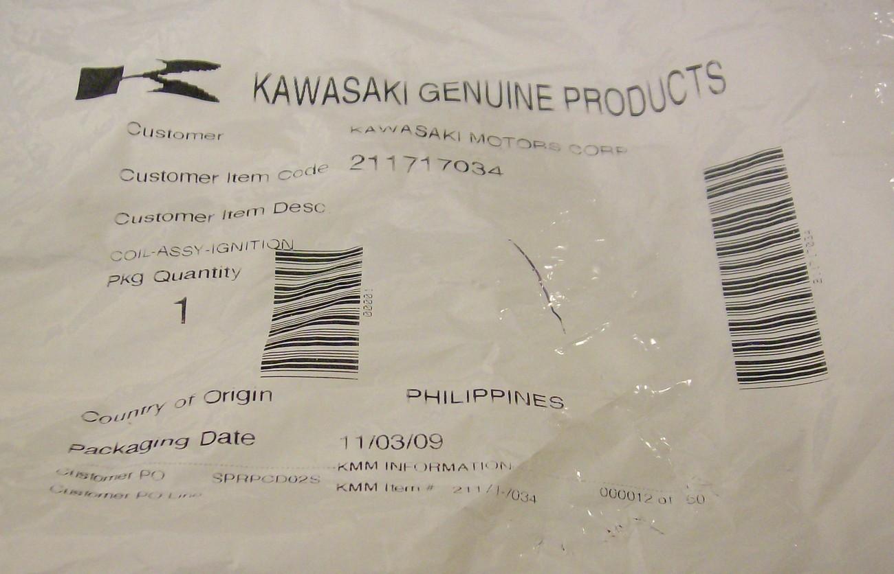 Kawasaki FH500V, FH541V, FH580V, FH601V, FH641V FH680V FH721V FH601D FH641D coil