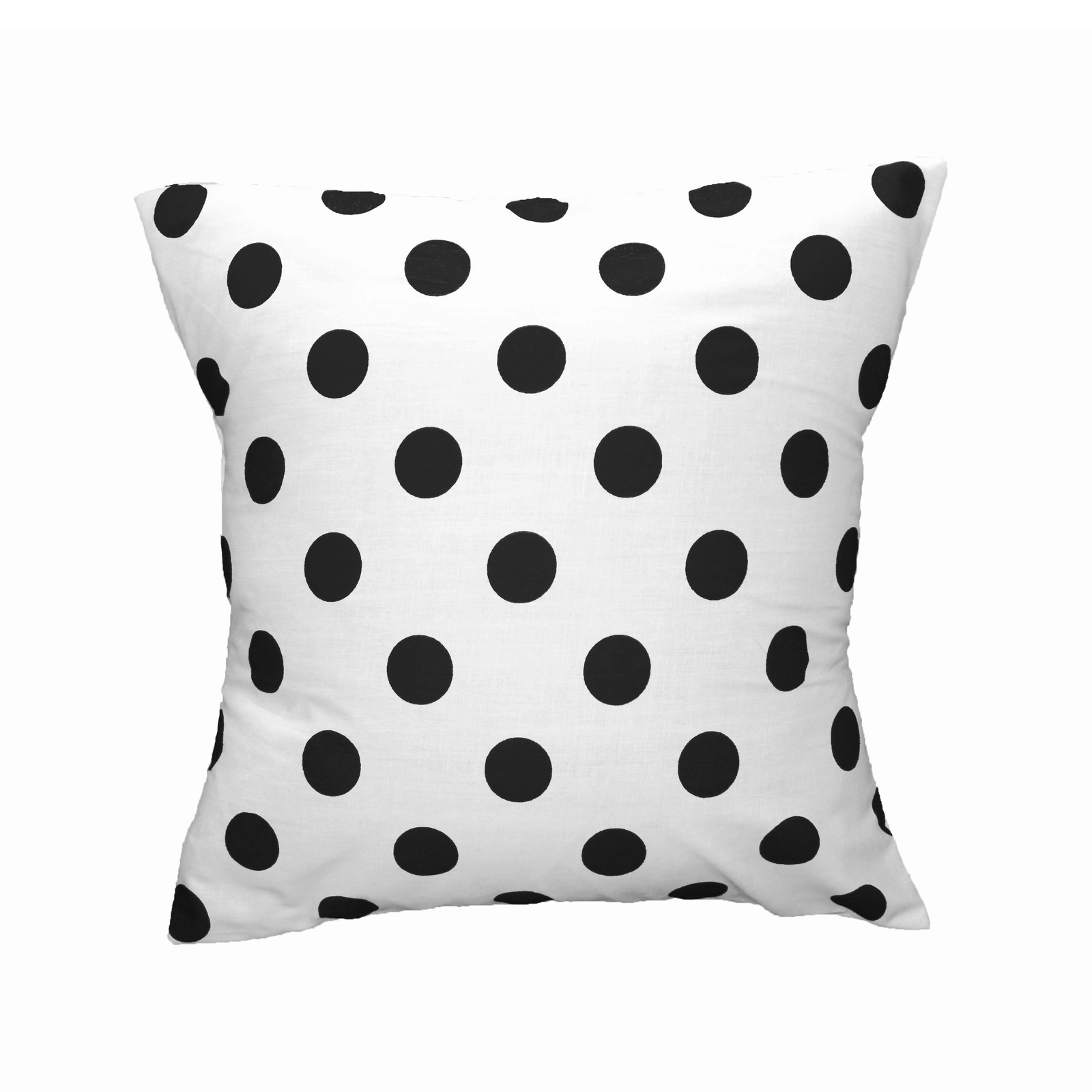 Primary image for Cotton Polka Dots Decorative Throw Pillow/Sham Cushion Cover Black On White