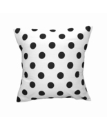 Cotton Polka Dots Decorative Throw Pillow/Sham Cushion Cover Black On White - $9.60+