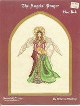 The Angels' Prayer Mar Bek Vintage Cross Stitch Leaflet - $3.95