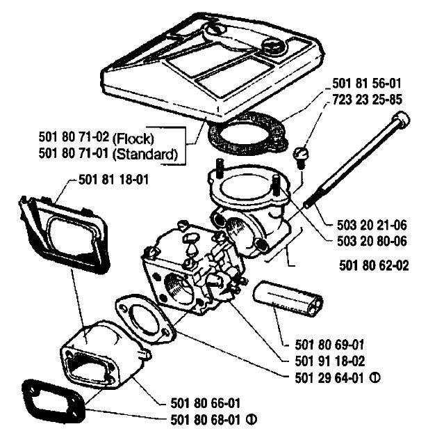 Carburetor Carb Assembly 501355301 Husqvarna And 50 Similar Items