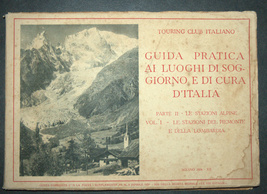 Antique Book 1934 Italy Spa Guide Part II Alpine Resorts Piemonte Photo Maps