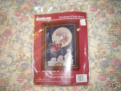 Janlynn Now Dash Away All Christmas Cross Stitch Kit