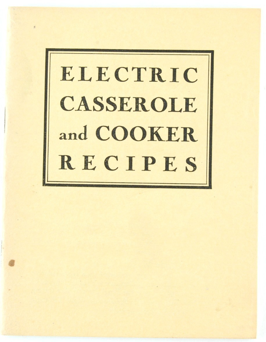 Primary image for Electric Casserole & Cooker Recipes Cookbook Brooklyn Edison