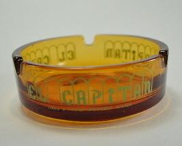 El Capitan Gold Glass Ashtray Lodge Casino Hawthorne NV - $7.00