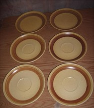 Canonsburg Pottery Co. Sunbeam 2 Plates / 4 Saucers 1968 - $19.99