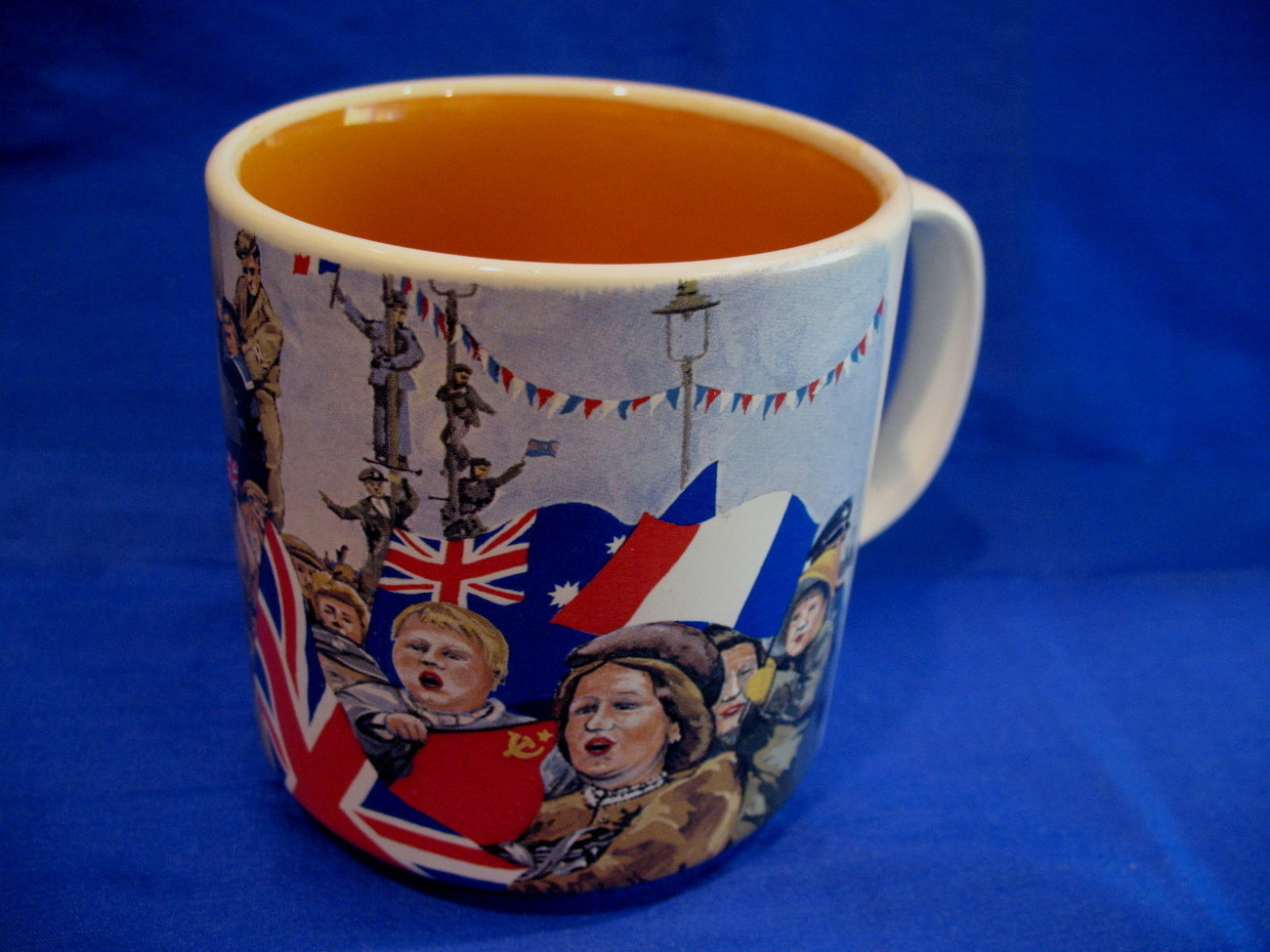 V. E. Day Victory in Europe Coffee Mug Tea Cup Souvenir 50 Anniversary