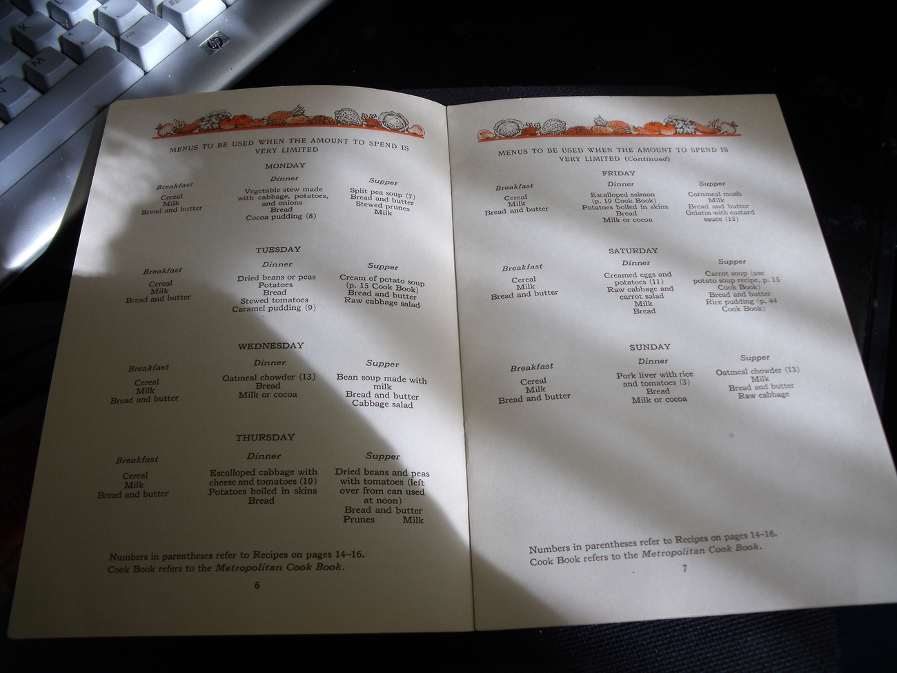 Early Metropolitan Life Insurance Company Cookbook Three Meals A Day