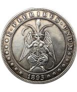 Hobo Nickel 1893 Dollar Devil Satan Lucifer Set God of Death Hell US Cas... - $9.49