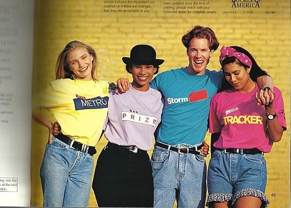 1992 GEO dlx brochure catalog US 92 METRO STORM Cameron Diaz