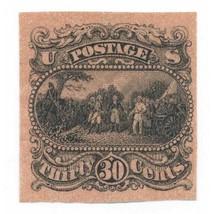 121-E1p 30c Surrender of Gen. Burgoyne, Black plate essay on Salmon Red ... - $189.00