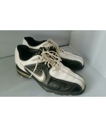 Women's Nike Air White Black Golf Cleats Shoes Size 7.5 - $17.24