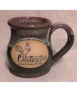 DENEEN POTTERY MUG - OVER EASY CAFE, SANIBEL ISLAND, FLORIDA - $14.95