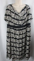 Liz Lange Maternity Target dress black white XL poly spandex short sleeve - $9.89