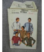 Mens size 15.5  Button Shirt with pocket  Vogue 9617  Vintage 1976 UC FF - $11.50