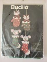 """Bucilla Needlecraft Felt """"Jeweled"""" Ornaments Kit-'kitts-mitts & mice' Un... - $21.28"""