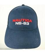 Nautica NS 83 Embroidered Blue Hat Cap Mesh Back Adjustable Back Vintage - $29.69