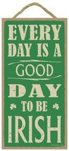 """Every day is a good day to be Irish 5"""" x 10"""" wood sign plaque - $12.86"""