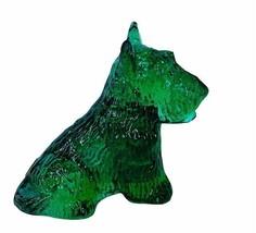 Scottish Terrier Boyds Glass figurine Schnauzer Scottie Scotty dog Emera... - $29.65