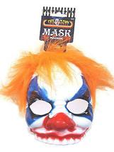 Evil Clown Half Mask w/EYEGLASS Frames & Hair Adult Halloween Costume Accessory - $13.89