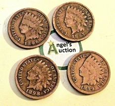 Indian Head Penny 1896, 1897, 1898 and 1899 AA20-CNP2126 Antique image 7