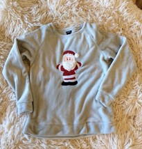 Christmas Top Santa Fleece Shirt Long Sleeve Womens Fits Like Small Rue2... - $10.99