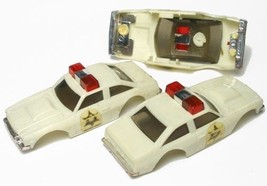3 1977 Ideal Tcr Dukes Hazard Sheriff Slot Car Bodies - $29.69