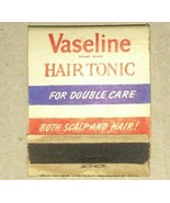 VINTAGE COMPLETE MATCHBOOK VASELINE HAIR TONIC - $0.99
