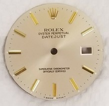 Rolex Datejust Silver Dial Part Gold Hour Stick Mark-T Swiss Made T-1601... - $198.00