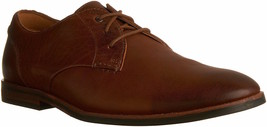 Mens Clarks Broyd Walk Oxford Shoes - Tan Leather [26123856] - $94.99