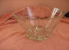 Vintg Princess House Heritage Crystal Etched Salad Bowl - $44.55
