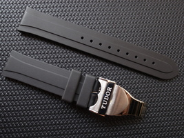 TUDOR 20mm Rubber Watch Strap Band + deployment CLASP - $47.50
