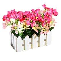 George Jimmy Artificial Flowers Arrangement Room Components Wood Fence Floral De - $28.25