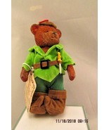 Russ Teddy Town Bear Resin Jointed Robin Hood - $9.49