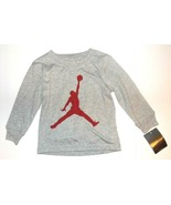 Air Jordan Nike Toddler Boys Long Sleeve Gray T-Shirt Jumpman Logo Size ... - $18.42