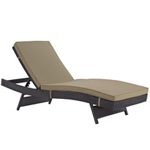 Convene Outdoor Patio Chaise Espresso Mocha EEI-2179-EXP-MOC - $419.00